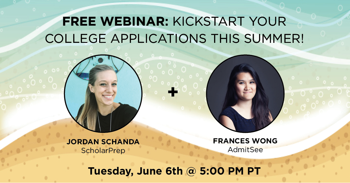 Live Webinar: Kickstart Your College Applications