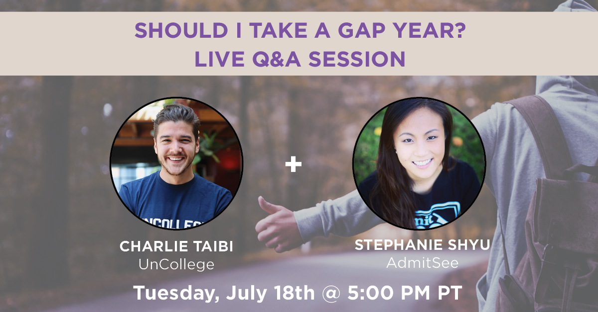 Should I Take a Gap Year? Live Q&A Session