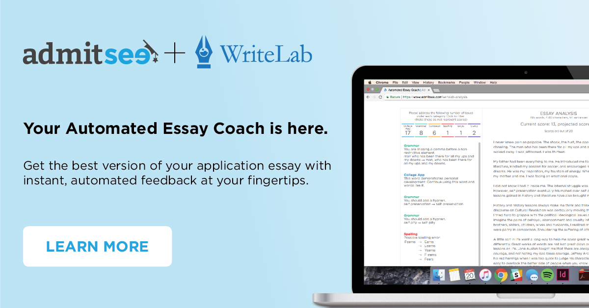 Automated Essay Editing Feature Leverages AI and Historical Data to Optimize College Essays