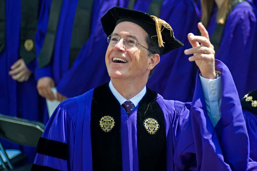 stephen colbert college admission essay I don't think fr barron's essay was meant to canonize stephen colbert, holding him high as a model of the perfect catholic but he does reverence the truth of colbert's life and the working .