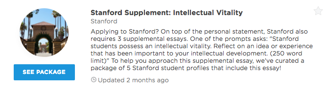 stanford university short answer prompts supplemental we ve curated a package of 5 stanford student profiles that include the response to this specific essay prompt see how others approached this supplemental
