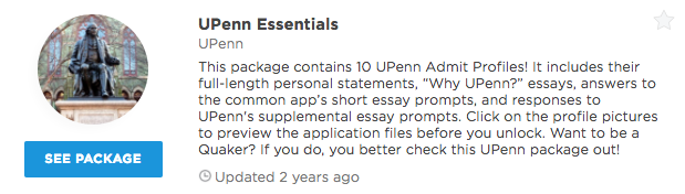 common app essay upenn Here's an admissions essay example by a friend of winning ivy prep who was accepted into a very prestigious program at the university of pennsylvania: jerome fisher program in management & technology upenn common app essay example.