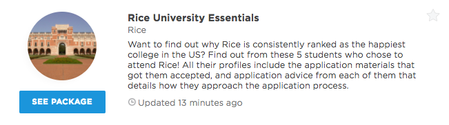 Rice university supplement essay help