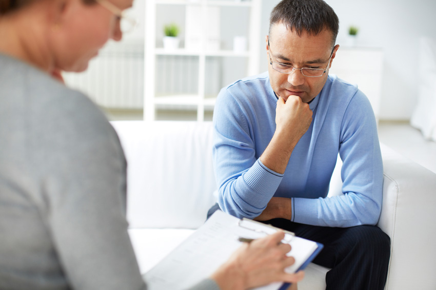 college counselor helping student