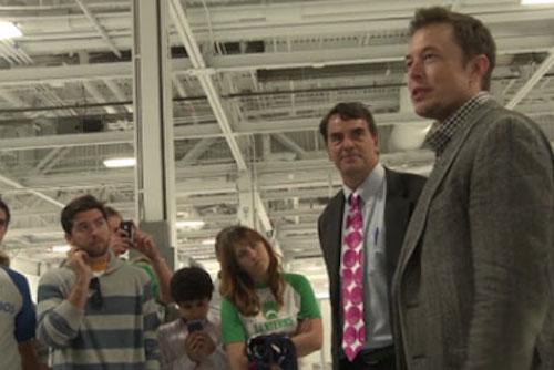 Elon Musk and Tim Draper talking to DraperU students