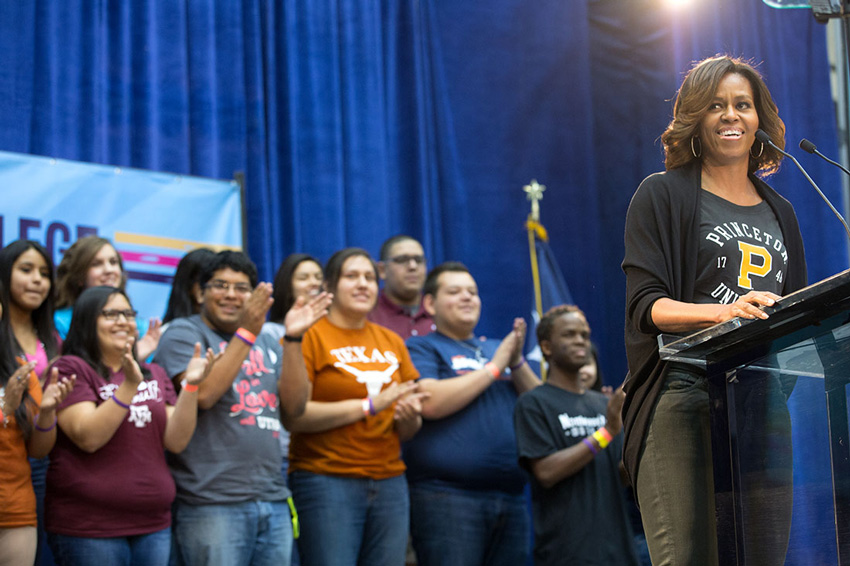 michelle obama national college signing day