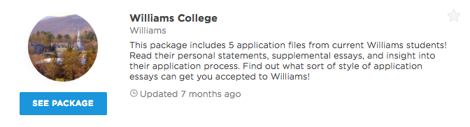 williams college personal statement examples admitsee our premium plans offer different level of profile access and data insights that can help you get into your dream school unlock any of our packages or
