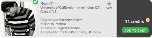 Planning go to UCI? Unlock Ryan T's Admit Profile now!