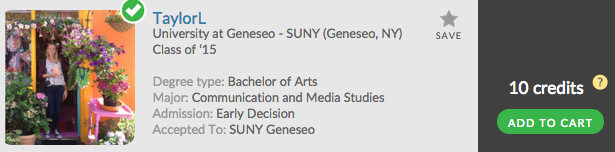Want to know more about SUNY Geneseo? Unlock TaylorL's Admit Profile now!
