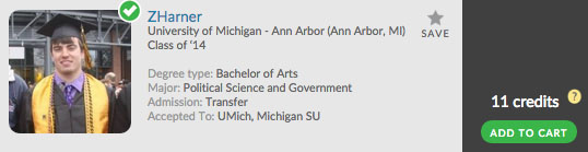 Want to go to UMich? Check out Zharner's Admit Profile!