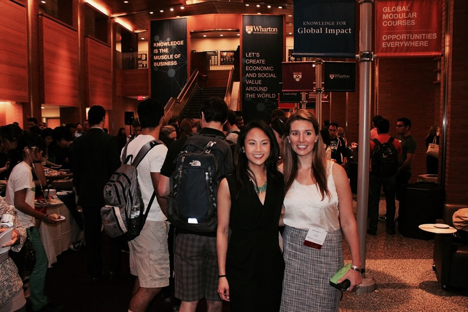 AdmitSee co-founders at Wharton's Business Plan Competition Finals