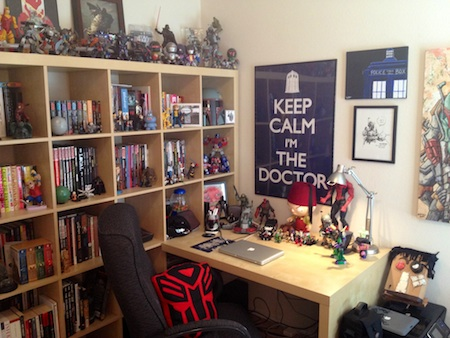 Embrace Your Inner Nerd With Quirky Posters, Shelves Of Figurines, And Lots  Of Merch. Laid Back Tones Are Also A Great Backdrop For The Brightly  Colored Fan ... Part 64